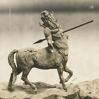 Surajit sen centaur concept sculpt surajitsen