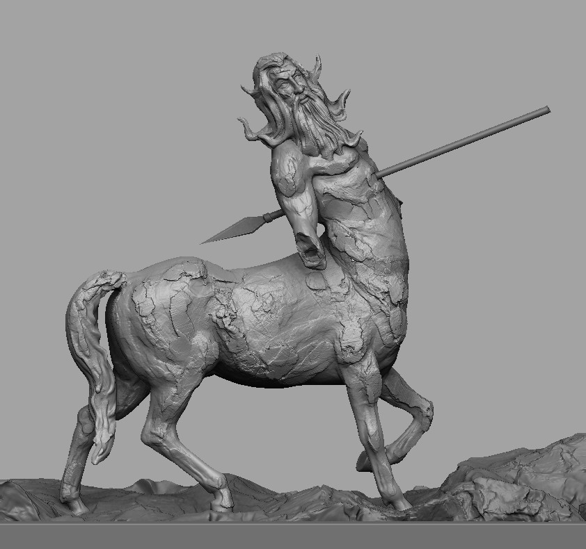 """""""Centaur""""....one of my concept sculpts.  Inspired by 15th Century Art. Tried to make a form of my thoughts. Wish to share."""