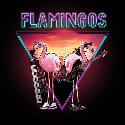 Pawel hudeczek flamingos artstation2