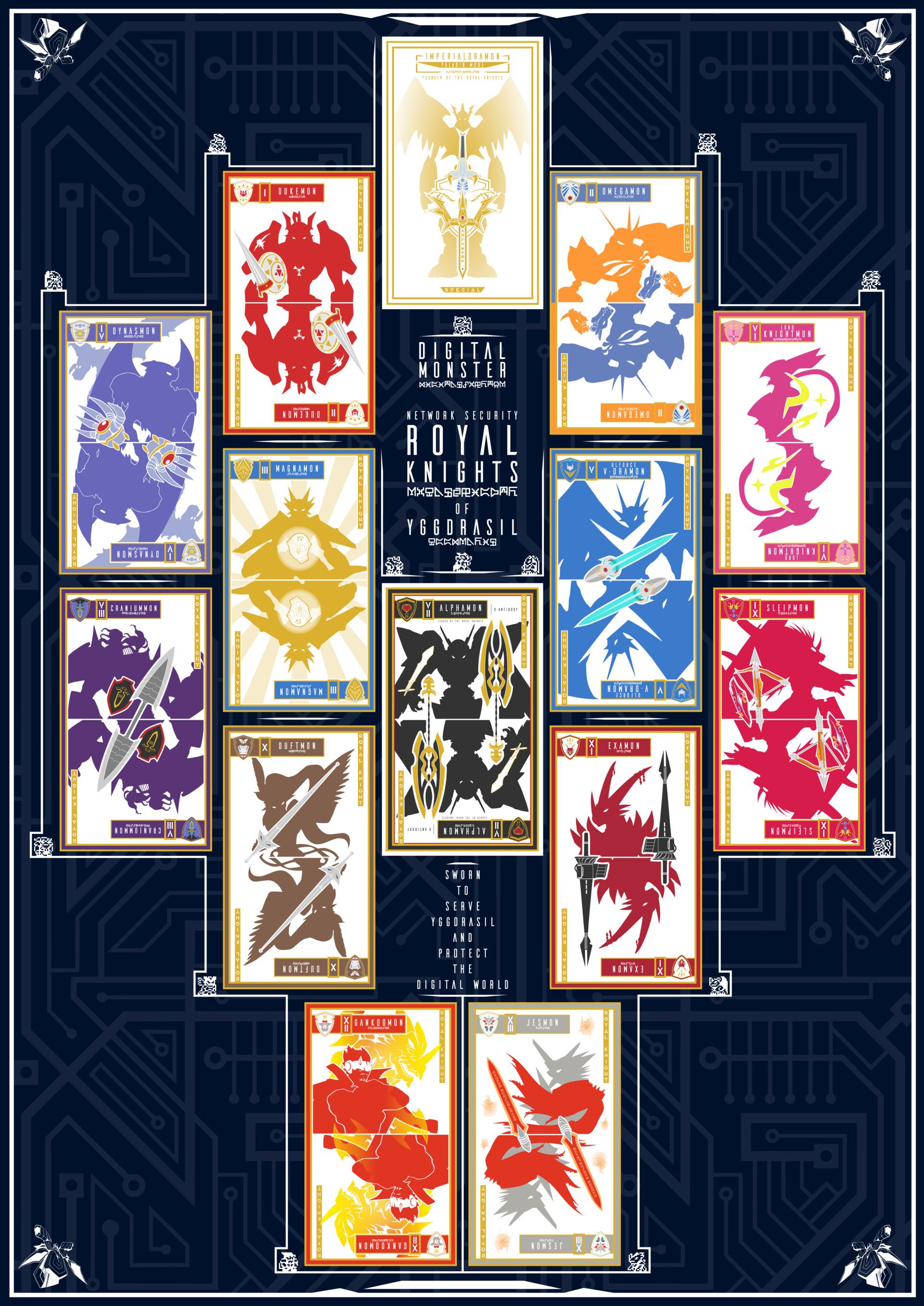 Artstation Digimon Knights Of Yggdrasil Royal Knights Card Set Joao Frias Digimon royal knights » jesmon. royal knights card set joao frias