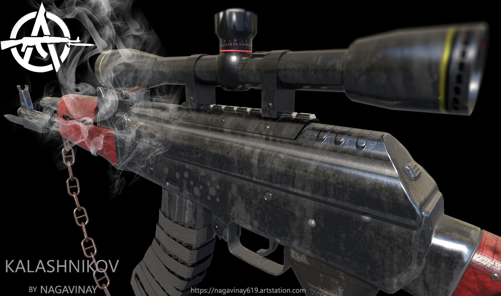 ArtStation - Kalashnikov Rifle-AK47, Naga Vinay