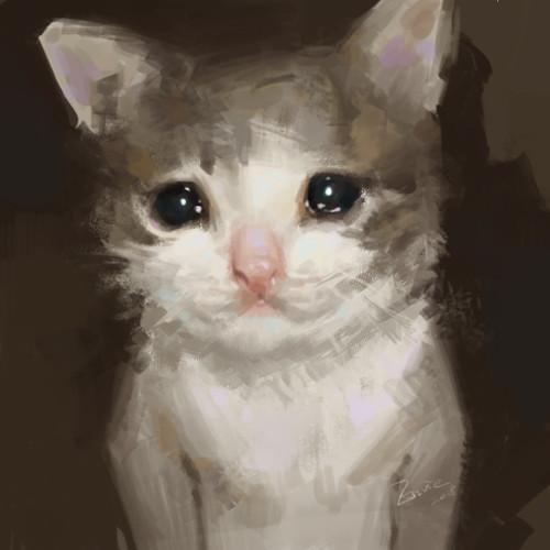 ArtStation , crying cat, Envie P