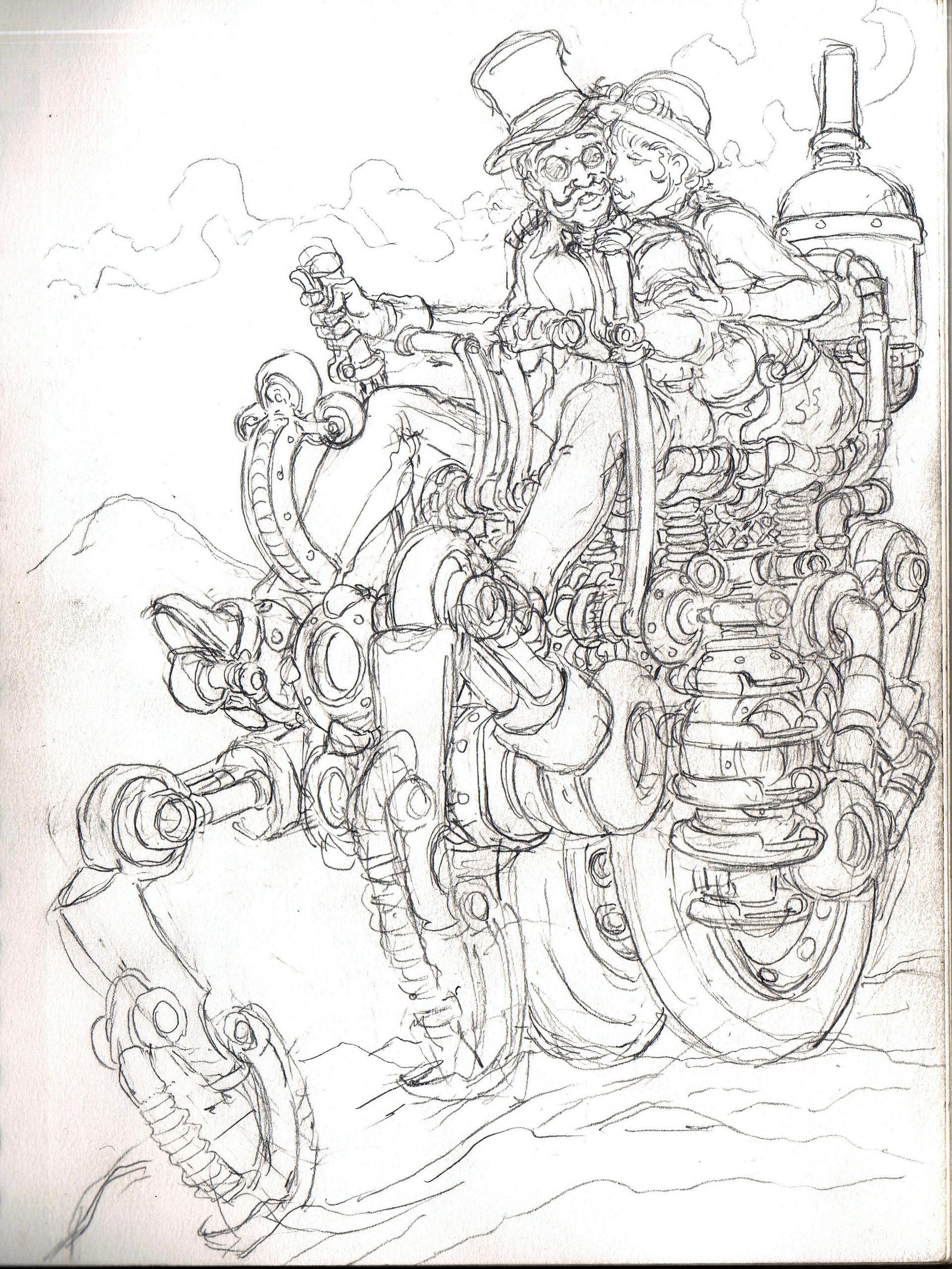 Vincent bryant snow mobile crawler sketch