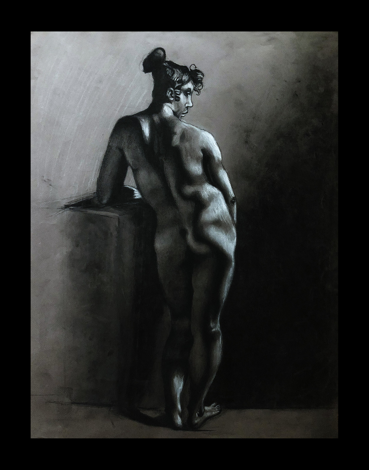 Charcoal on Colored Paper 60.96 cm ×  76.2 cm