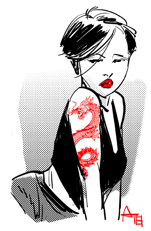 Andre stahlschmidt asian tatoo girl sketch 72dpi