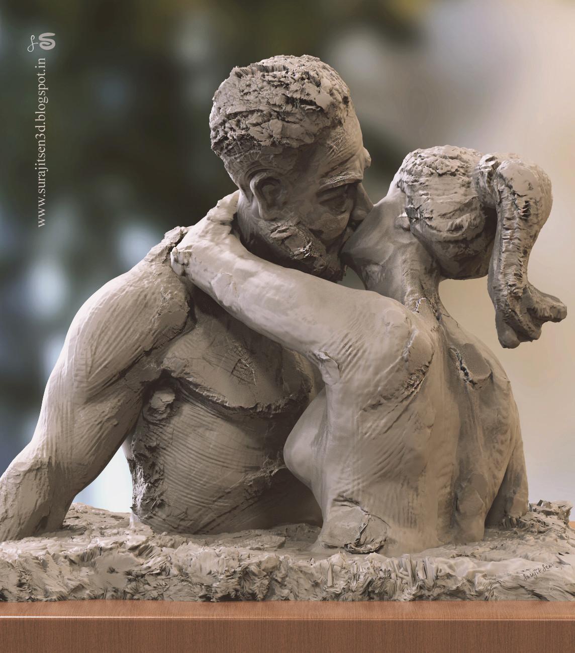 Surajit sen kiss speed sculpt by surajitsen