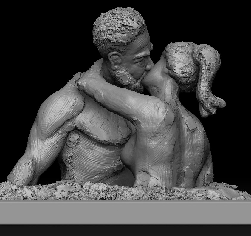 """#speedsculpt #study #doodle   """"Love"""".....My free time speed sculpt study. Just played with brushes! Tried to make a form of my thoughts."""