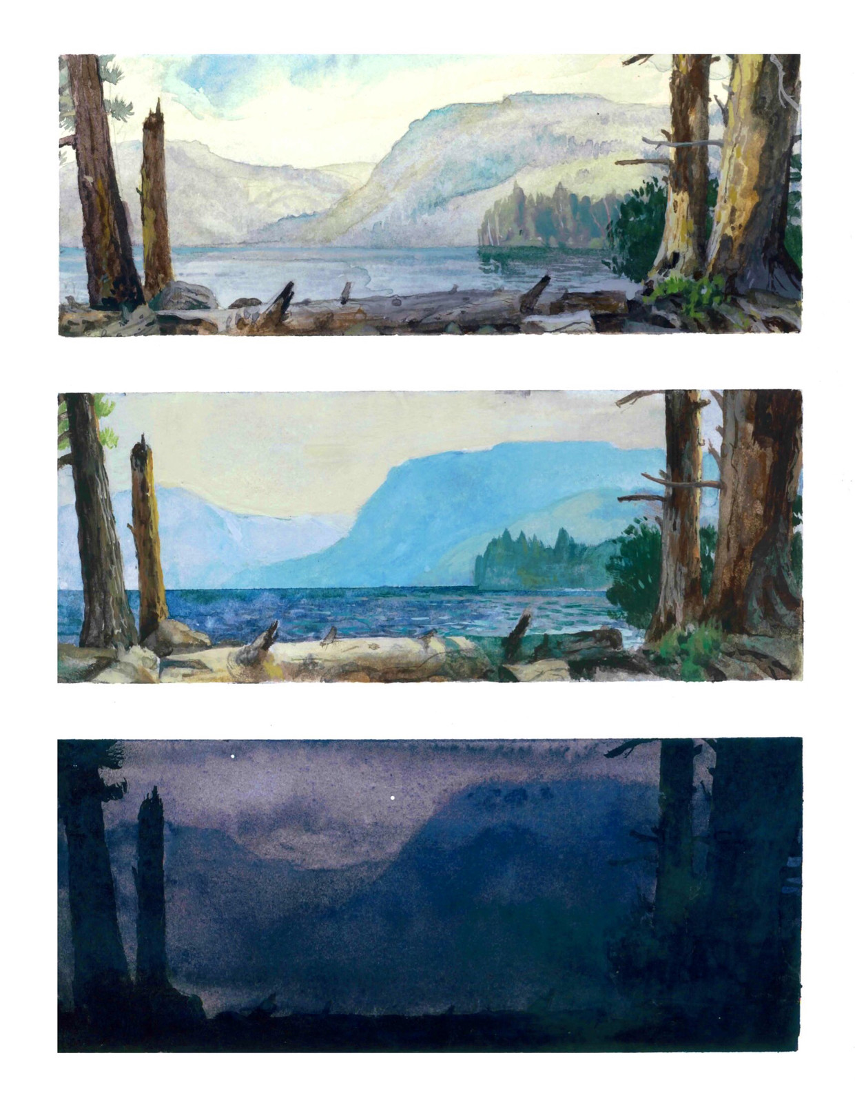 3 watercolor paintings in one day!