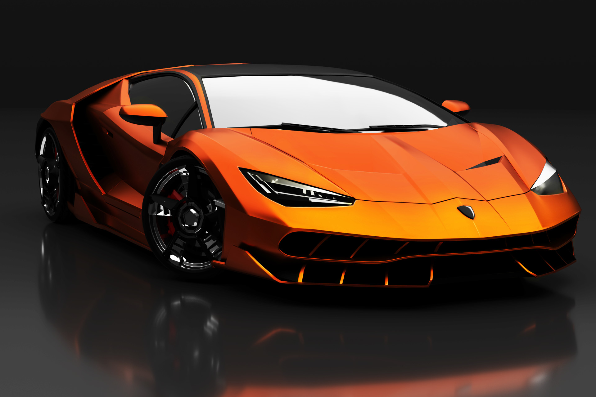 Artstation 3d Model Lamborghini Centenario Steven Tiu