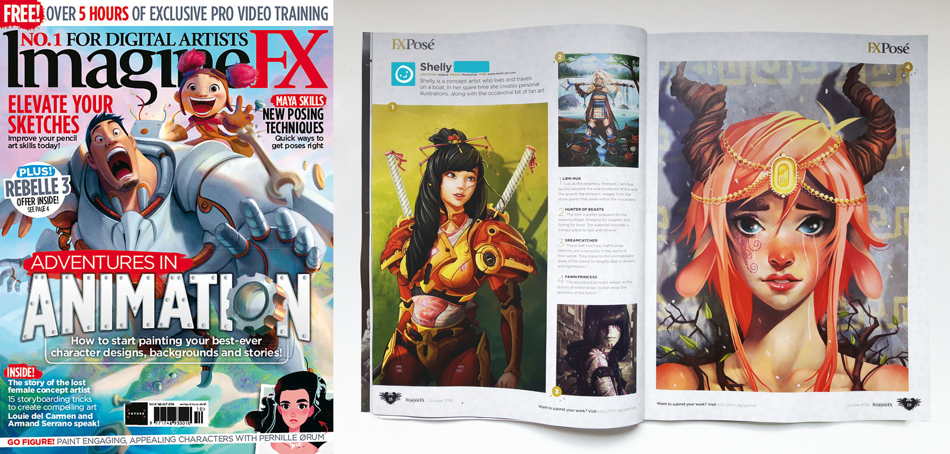 Shellz art published in imaginefx