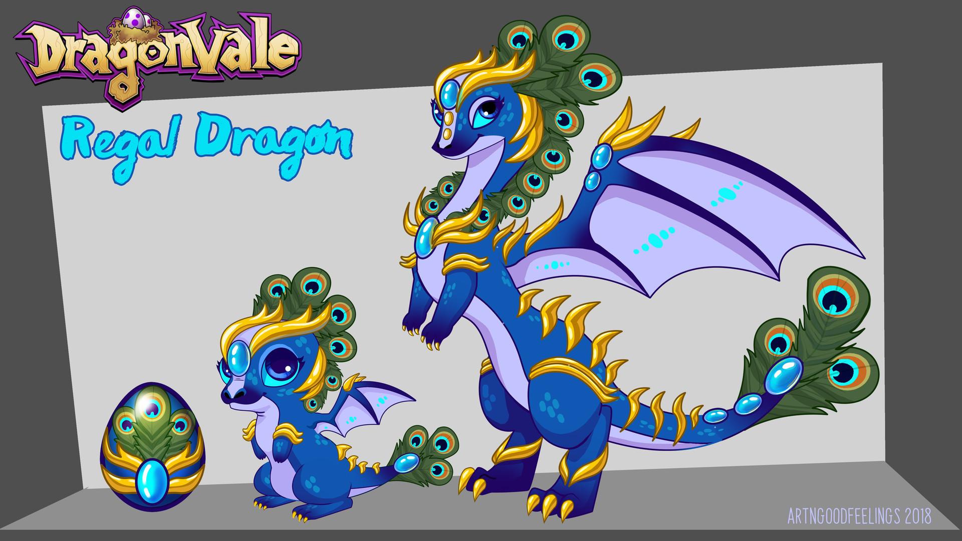 Artstation Regal Dragon Concept Dragonvale Meg Viola