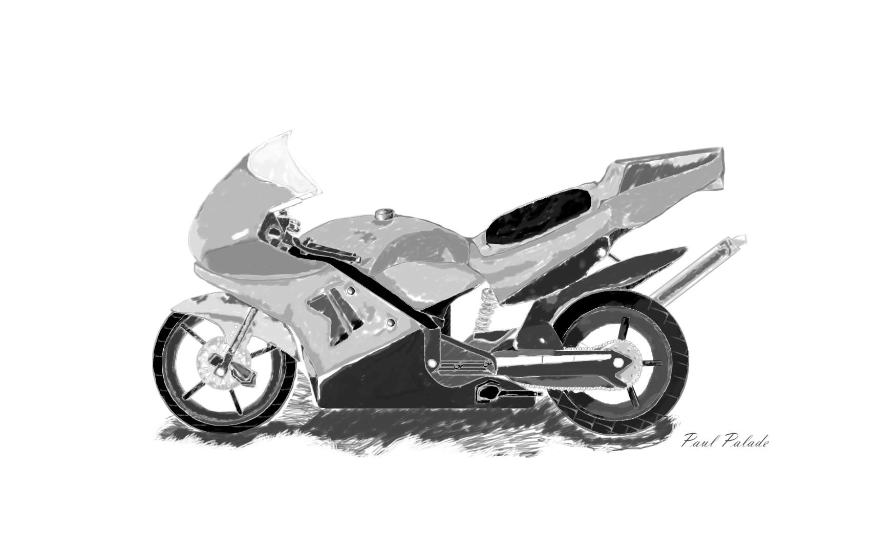 Gambar Sketsa Motor Ninja Rr
