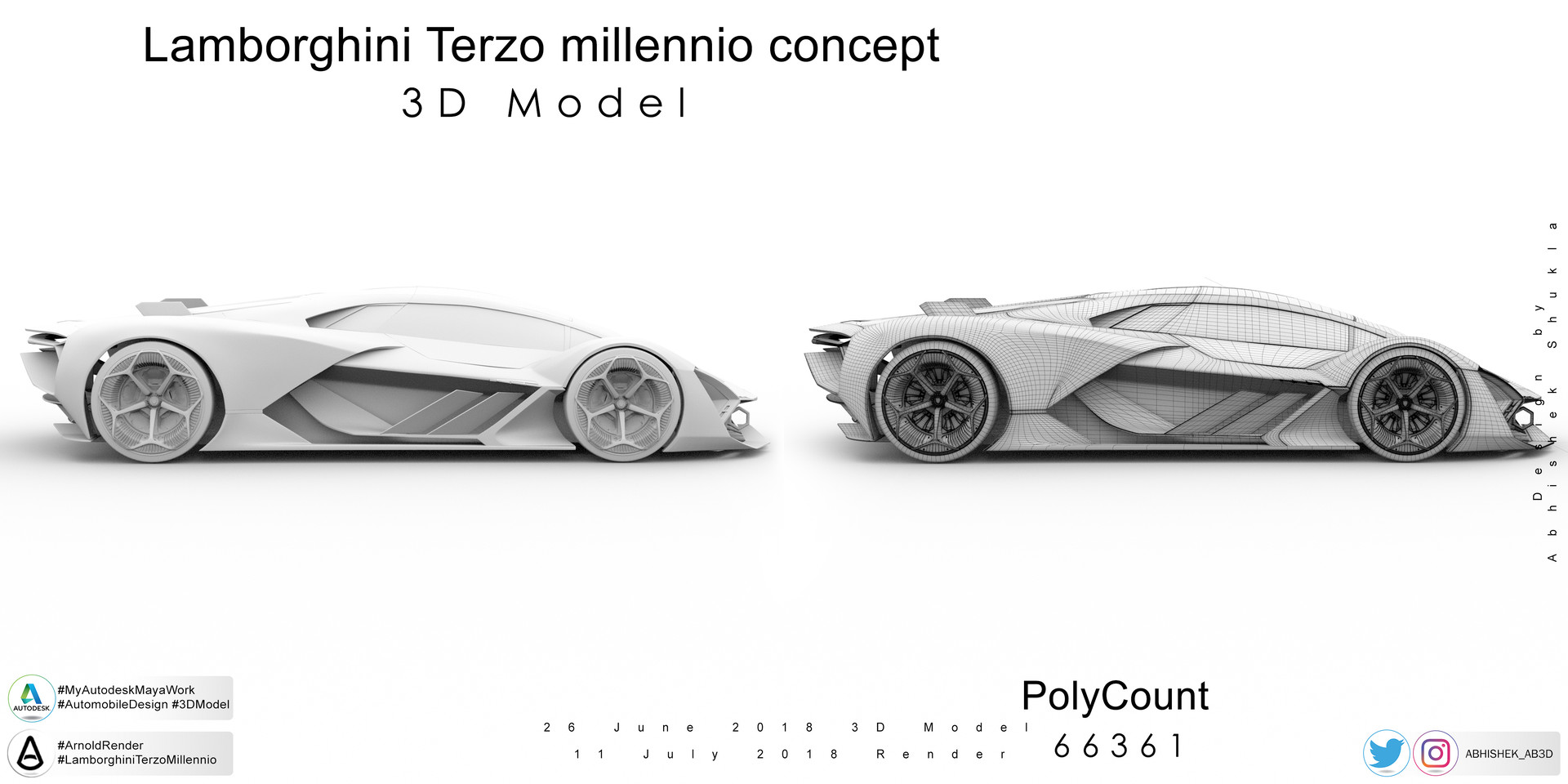 Artstation Lamborghini Terzo Millennio 3d Model Abhishek Shukla