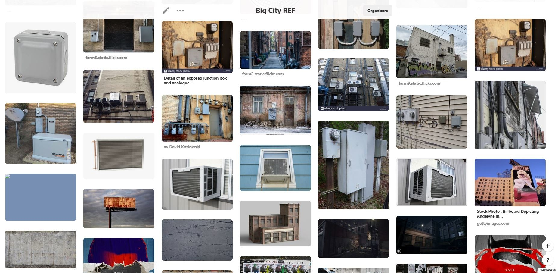 Snippet from Pinterest Ref-Board