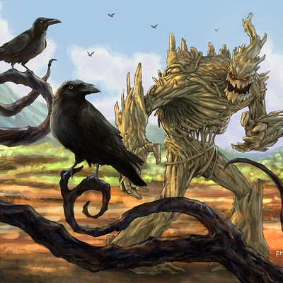 Fernando merlo new landscape crows golem