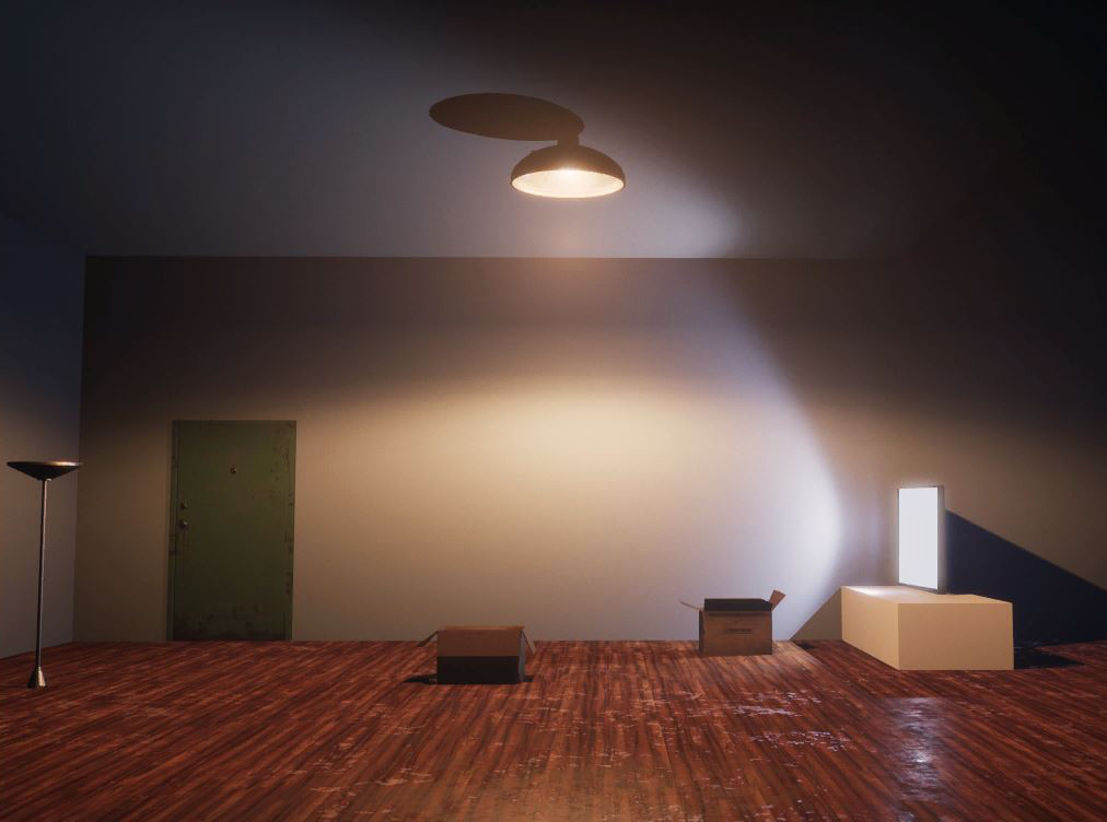 Image used for for one of the fake interiors. Thrown together using starter kit assets and some of my own.