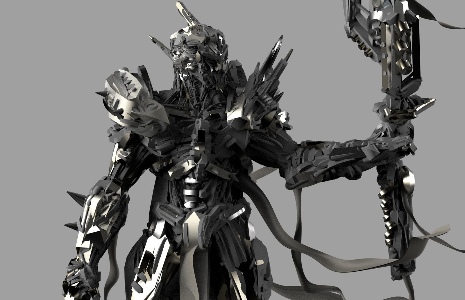 Tech Warrior VR design /Gravity sketch