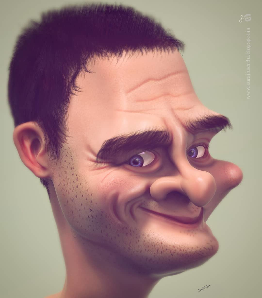 """I always like Caricatures. Wish to share my recent caricature work """"Aappu"""". Hope you like it.  Concept -Anonymous."""