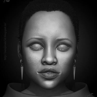 Surajit sen lupita nyongo 3d portrait by surajit sen