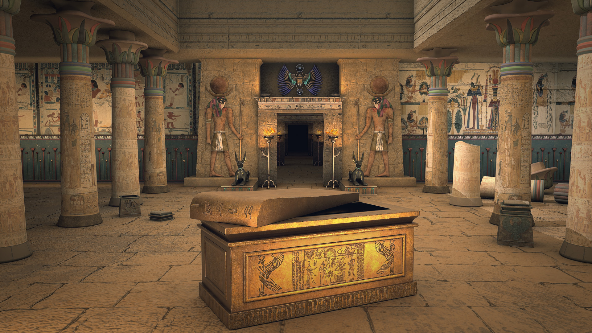 Nahikari M - Fictional recreation of the temple of anubis