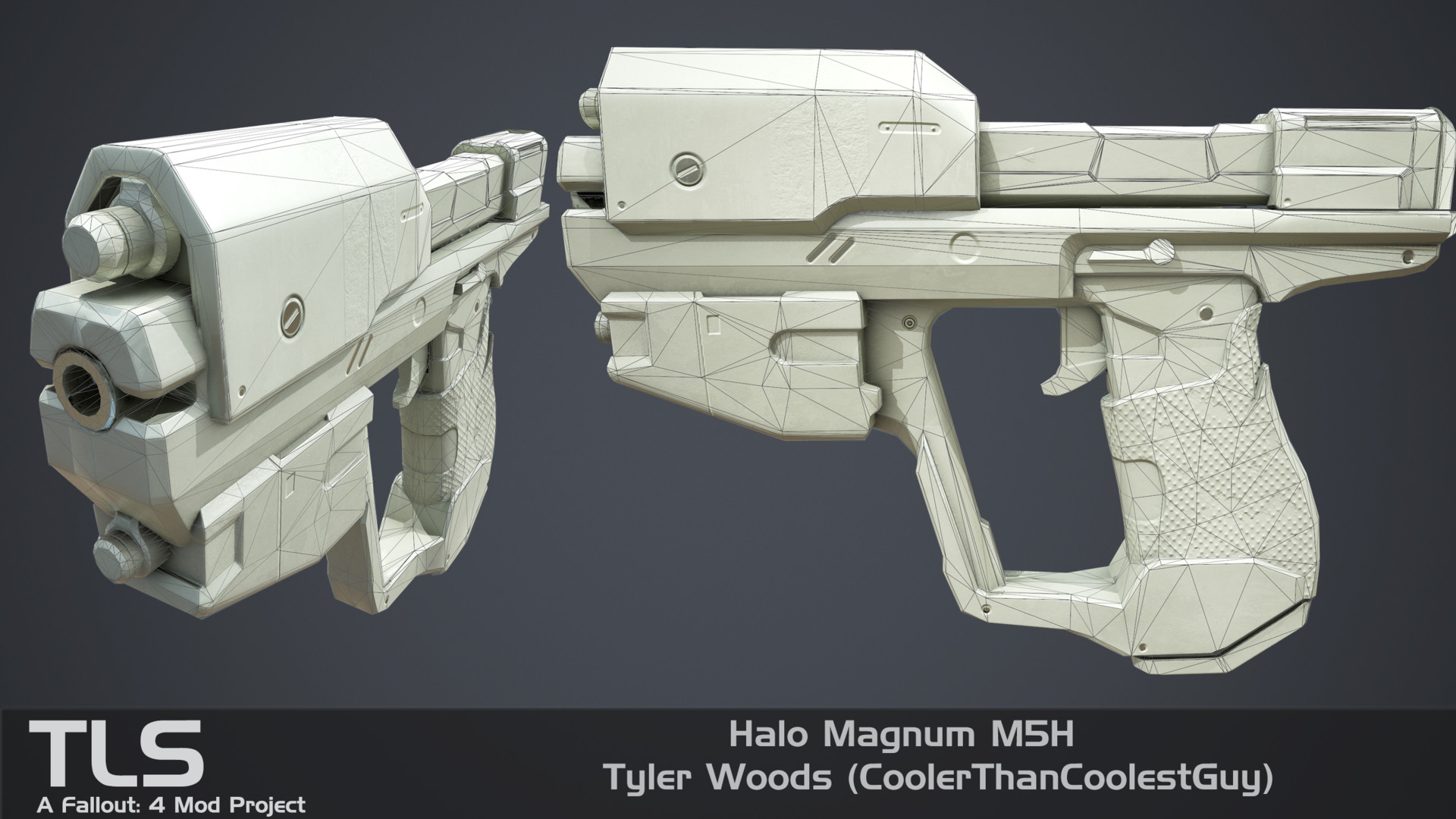 ArtStation - The Last Spartan - Halo Magnum M5H, Tyler Woods