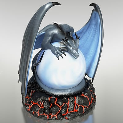 Anton pikalov dragon night light color