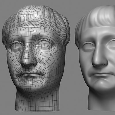 Roger borelli emperor trajan retopo face v01