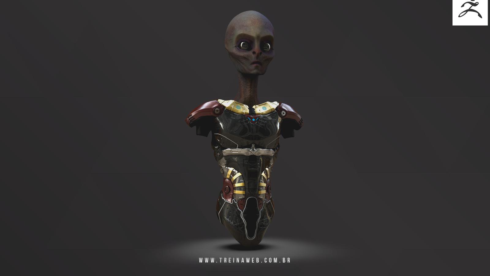 Alien Sculpture Work for Treinaweb Zbrush beginner class