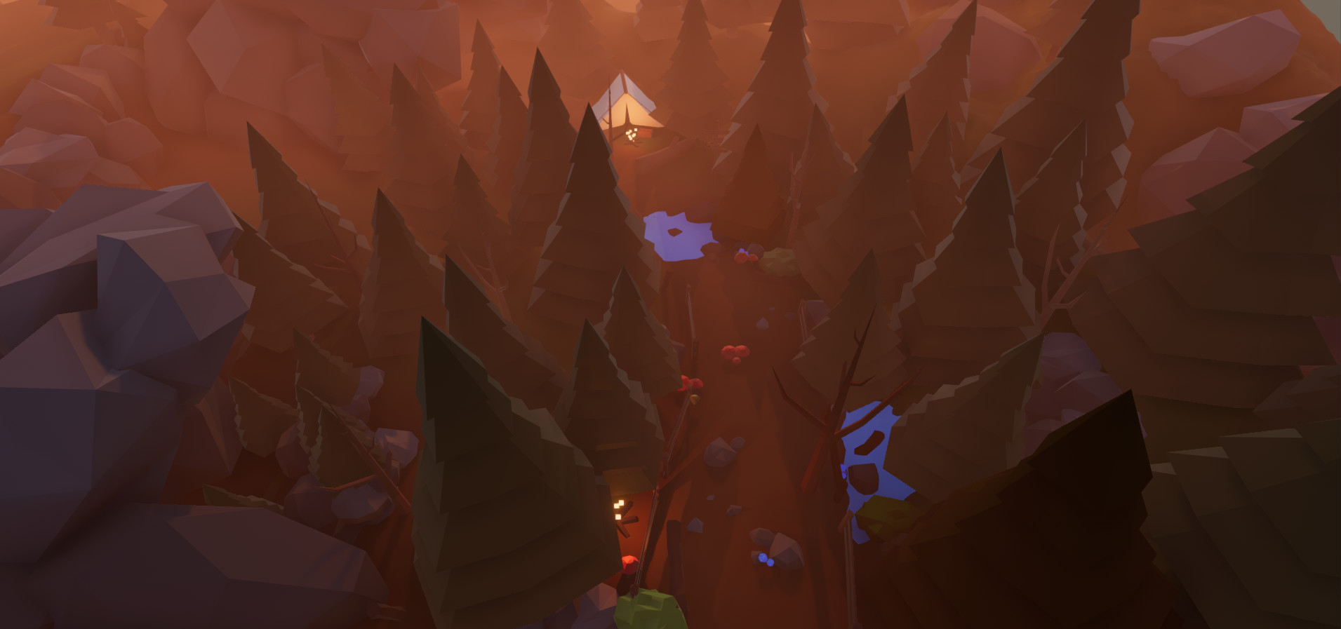 Andrea Marinelli - Demo scene - Low Poly Forest Pack - Unity