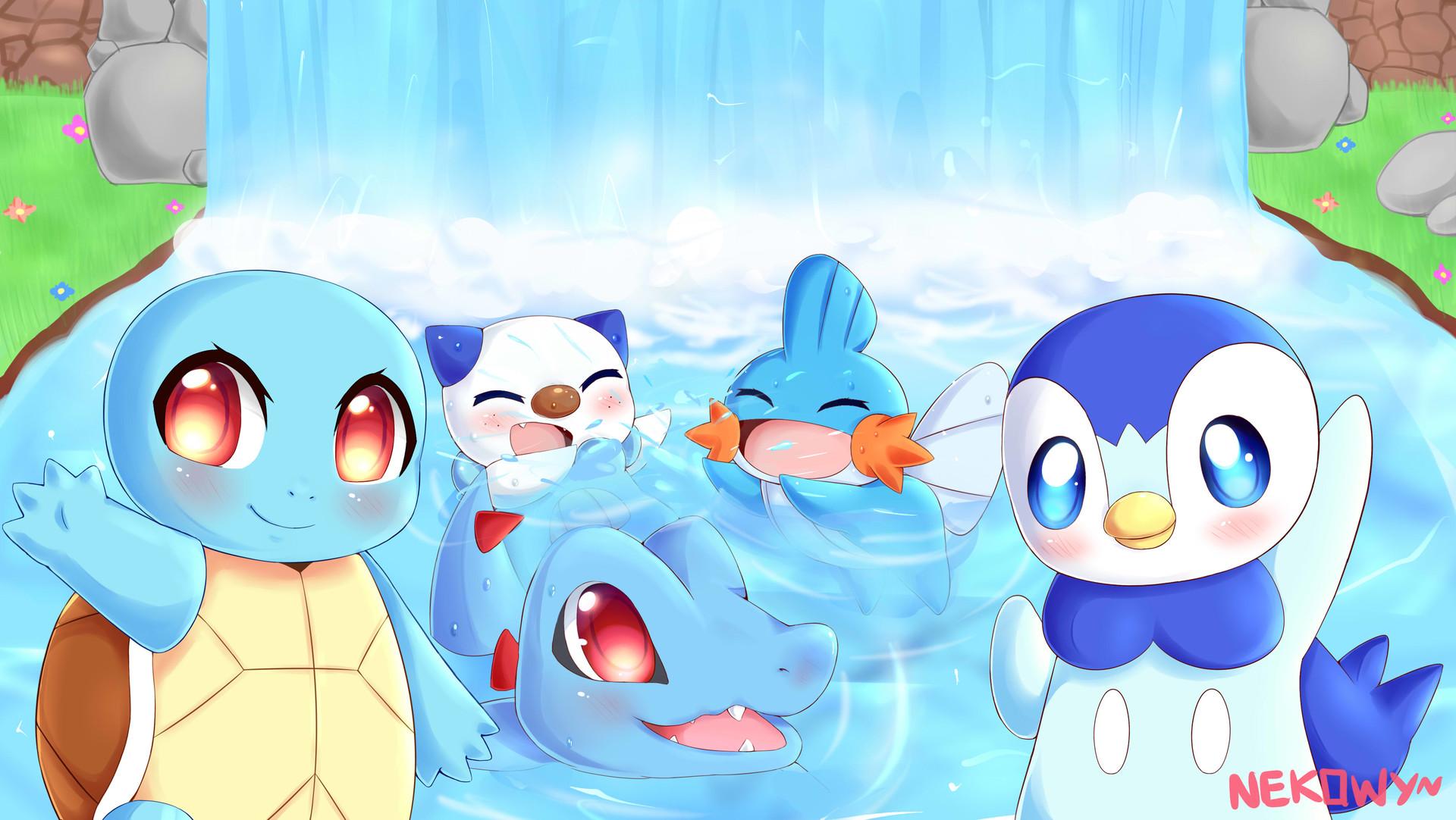 Nekowy Naruya Best Water Types Pokemon Fanart