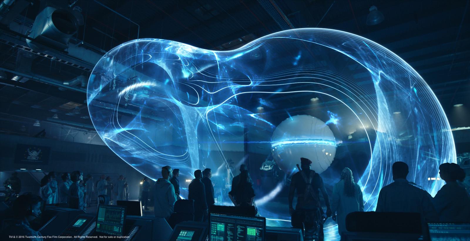 AI Orb hologram, permutations. 6 of 8