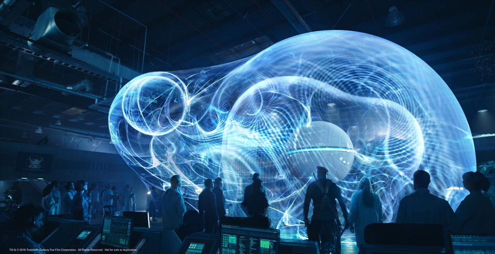 AI Orb hologram, permutations. 7 of 8