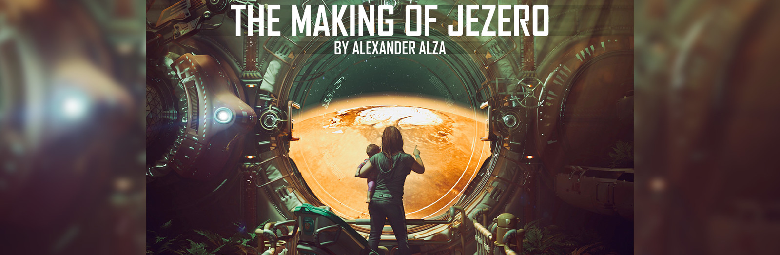 To get more in-depth with my process please check out my accompanying blog, The Making of Jezero at https://www.artstation.com/alexanderalza/blog/vXR3/the-making-of-jezero