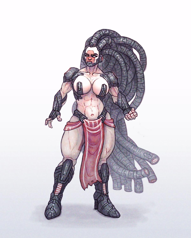 Chema samaniego concept armor hair 2
