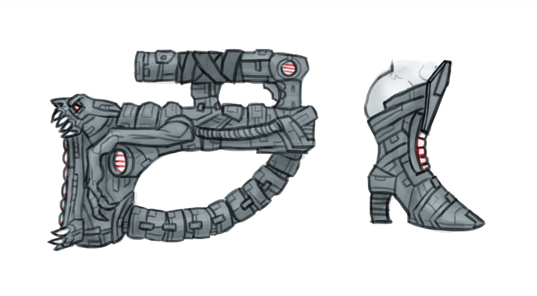 Chema samaniego concept armor hair 4