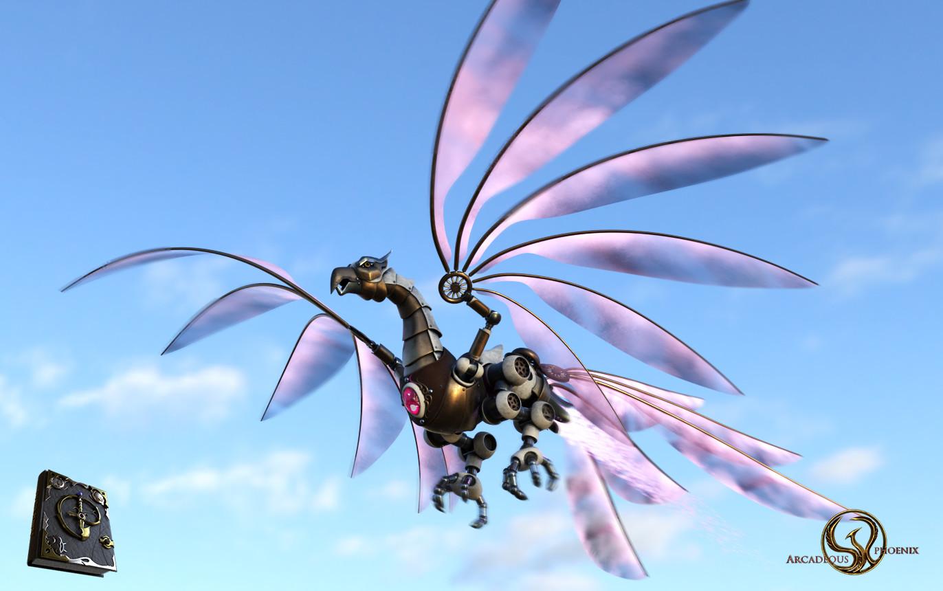 Arcadeous phoenix t bird flight