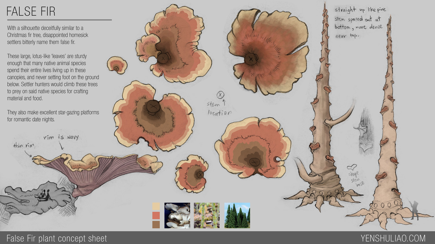 Yen shu liao environment concept art yen shu liao mushroom forest prop 02 layout