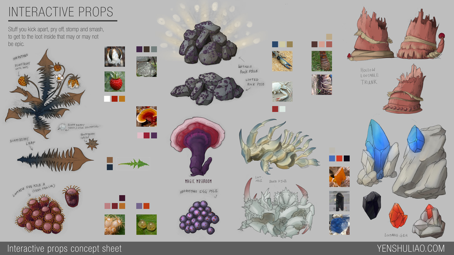 Environment Asset Concept - alien plants