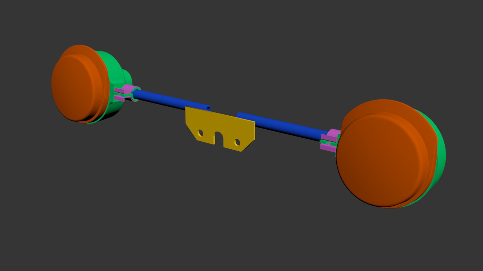 3D model with color coding for UDIMs