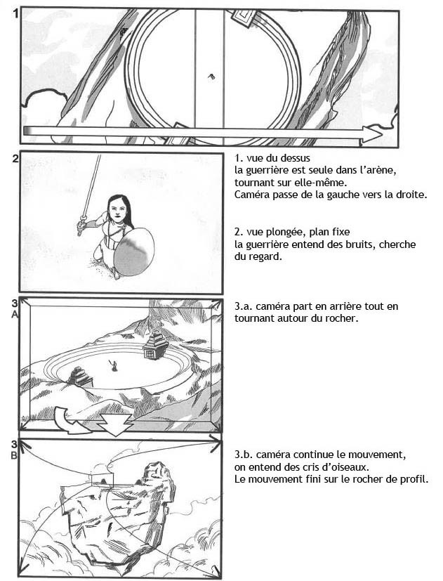Storyboard for a Fantasy short. Live action with 3D Backgrounds - Page 1 - (In French)