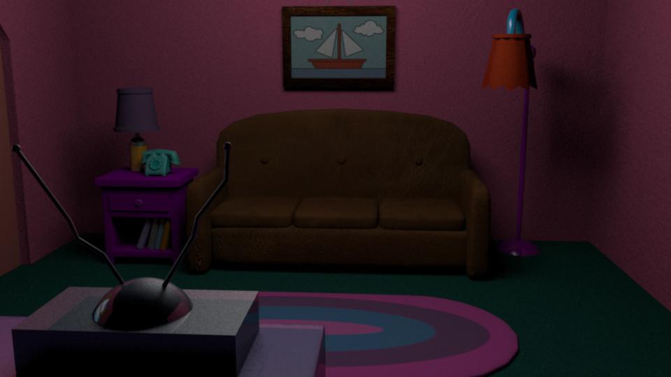 Etzan Torres The Simpsons Living Room