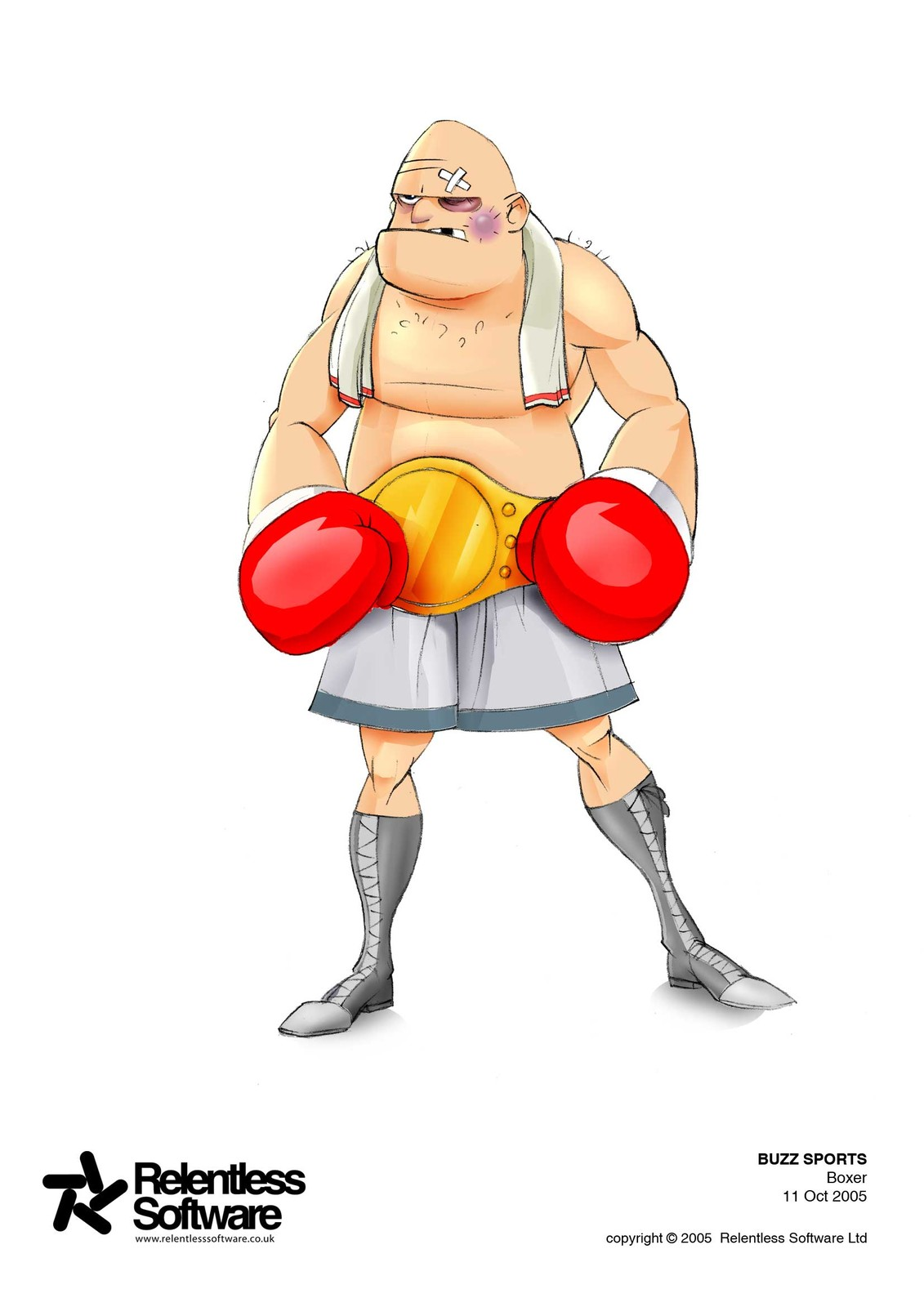 Boxer player concept for BUZZ Game.