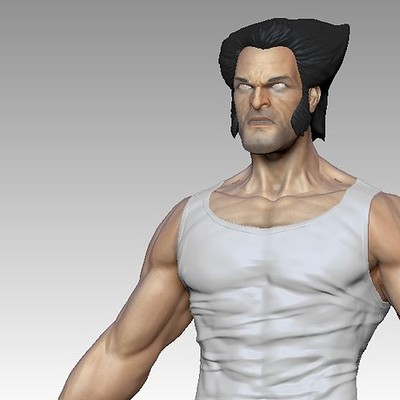 WIP Sculpt concept of Wolverine