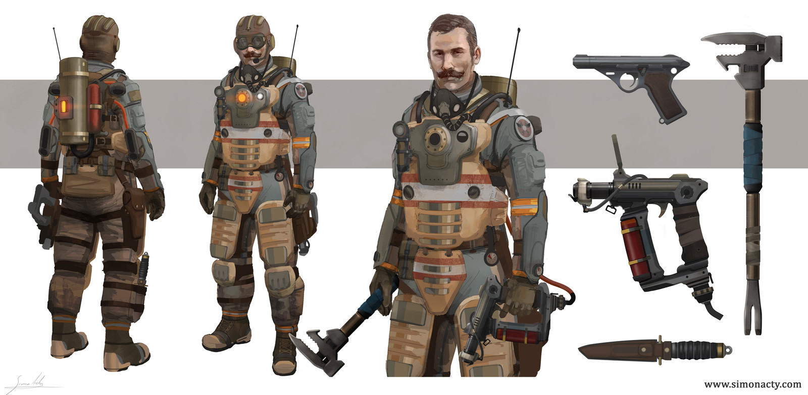Sky rigger character concepts