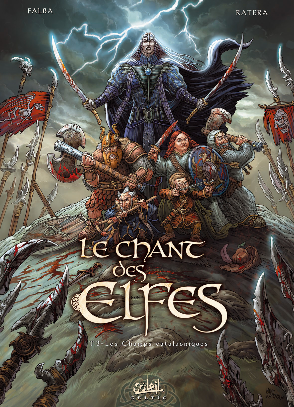 Mike ratera chant des elfes t3 cover logo