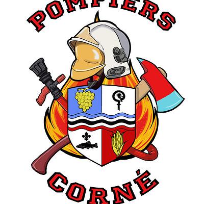 Ronald bousseau apercu logo pompier corne txt rouge