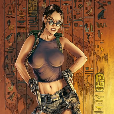 Mike ratera lara croft 01 color
