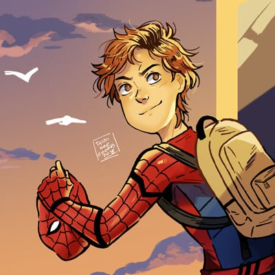 Dylan b caleho peter parker finished