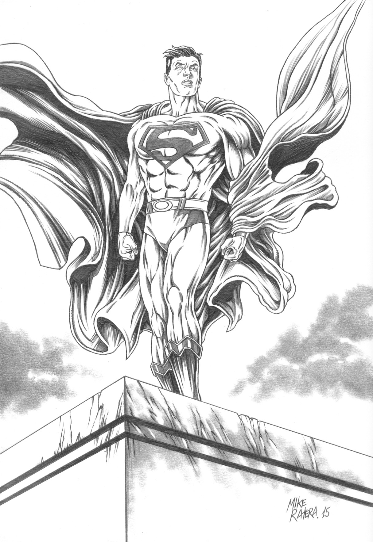 Mike ratera superman bw
