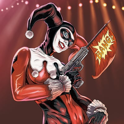 Mike ratera harley quinn 4 color